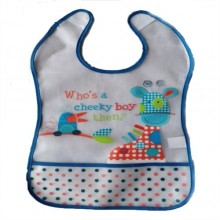 Toddler Silicon Lunch Bibs- Blue