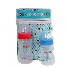 3-in-1 Warmer Bag With 2 Bottles - Multicolour