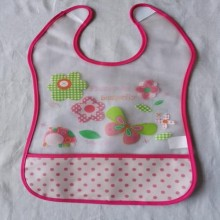 Toddler Silicon Lunch Bibs- Fuchsia