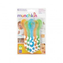 Munchkin Soft-Tip Infant Spoon and Fork Set - 6 Pieces - Multicolor