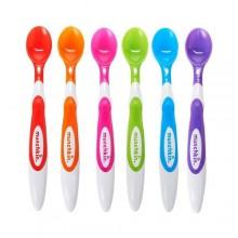 Munchkin Soft-Tip Infant Spoon Set - 6 Pieces - Multicolor