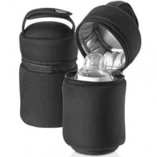 Food Warmer With Insulated Bottle Bag - Black