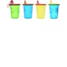 The First Years Take & Toss Spill-Proof Sippy Cups - 4 Count - Multicolour