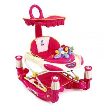 3-In-1 Portable Baby Stroller /Walker - Red/Pink