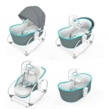 5 in 1 Rocker Bassinet- Gray