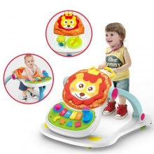 4-in-1 Educational Baby Walker - Multicolor