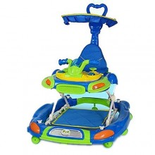 3 in 1 Baby Walker and Rocker - Blue/Multicolor