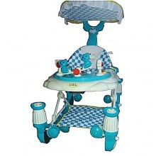 3-In-1 Comfort Baby Walker/Rocker - Blue