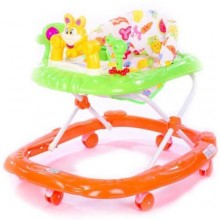 Beautiful Adjustable Baby Walker - Orange/Green