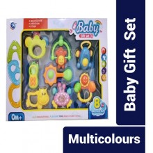 Baby Portable Teether With Rattle Music Bell Teeth Grinding Animals Educational Toys - 8 Pieces