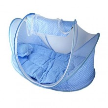 Happy Baby Bed + Powder Puff + Bottle Warmer Bag - Multicolour