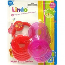 Lindo Baby Water Filled Teether - Pink/Red