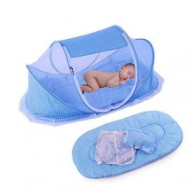 Quality Baby Bed With Mosquito Net - Blue