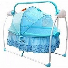 Gliding Electric Primi Rocking Baby Bed With Mosquito Net - Blue