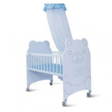 Fancy Baby Bed/Cot - White/Blue