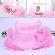 4 in 1 Portable Baby Bed with Net - Pink