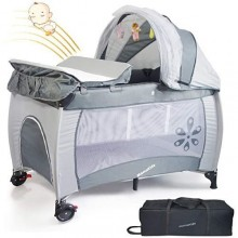 Travel Baby Bed/Cot - Grey