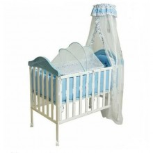 Durable Baby Bed/Cot - Blue