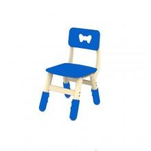 Kids Plastic Study/Dinning Chair - White/Blue