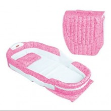 Portable Baby Bed with Net and Toys - Pink
