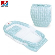 Separated Portable Baby Bed - Multicolour