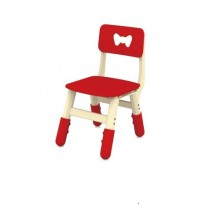 Kids Plastic Study/Dinning Chair - White/Red