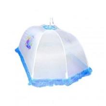 Newborn Baby Umbrella Mosquito Net - White/Blue