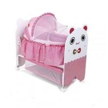 Dear Baby Bed/Crib - White/Pink