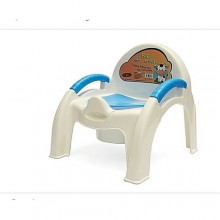 Comfy Potty Chair - White/Blue