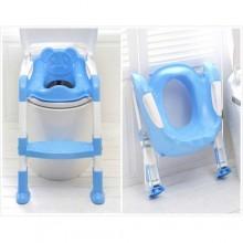 Toddler Folding Potty Training Toilet Ladder- Blue