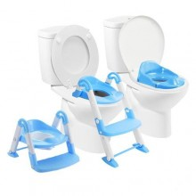3-in-1 Portable Toilet Ladder- Blue