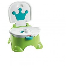 Royal Stepstool/Potty Chair For Kids - White/Green