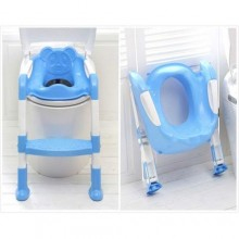 Quality Toddler Folding Potty Training Toilet Ladder- Blue