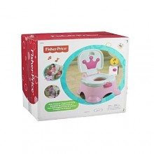 Royal Step Stool/Potty Chair For Kids - White/Pink