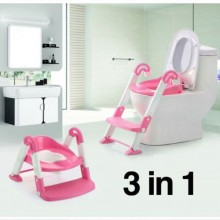 3-in-1 Portable Toilet Ladder - Pink