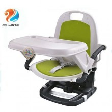 Foldable Deluxe Comfort Feeding Booster Seat - Green/White/Black
