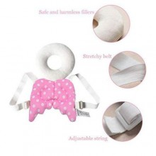 White Angel Baby Head Protection Pad -Pink