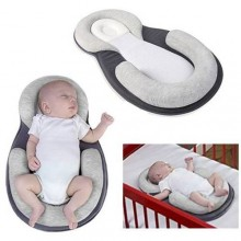Portable Baby Folding Bed - Grey/White