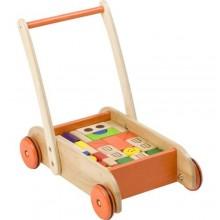 Wooden Baby Walker - Multicolour