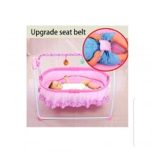 Prima Electric Baby Cradle Swing Sleeping Rocking Bed/ Music Bassinet- Pink