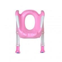 Toddler Folding Potty Training Toilet Ladder- Pink