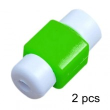 USB Cable Protector - 2 Pieces Green