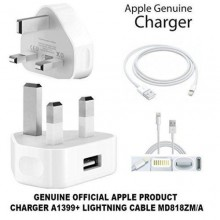 iPhone X Lightning Cable & Adapter - White