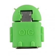 Robot USB OTG Adapter - Green