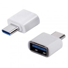 OTG Type C to USB - White