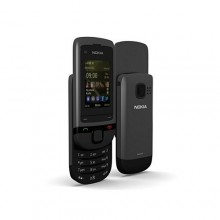 Nokia C2-05 2GSM 2.0'' Slide Touch &Type Mp3 Player Mobile Phone - Black