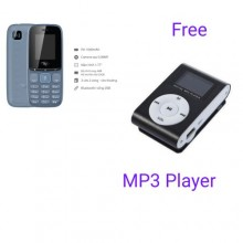Itel It 2173 Dual Cell Phone - 512MB ROM - 512MB RAM - Black/ Grey + Free MP3 Player