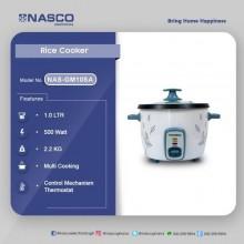 Nasco NAS-GM10SA Rice Cooker - 1.0L - White