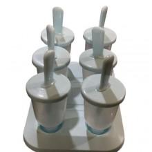 Detachable Popsicle Maker Molds - 6pcs - Grey