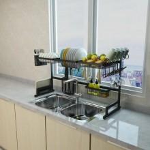 Over Sink Kitchen Dish Drying Rack - Black